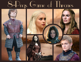 8 Game of thrones pngs by BachLynn23