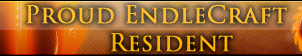 Proud EndleCraft Resident Button by Carify