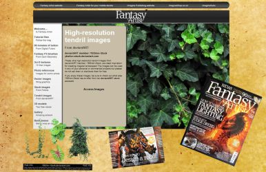 My first publication in Fantasy Artist by YBsilon-Stock