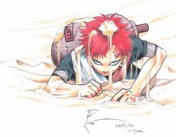 Gaara of the Sands by Nick-Ian