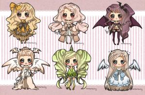 [CLOSED]Adoptables Batch #4 by Miivei