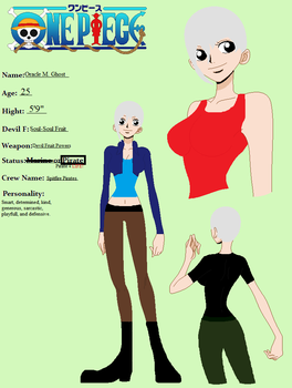 Oracle M. Ghost -One Piece OC Character Profile- by storks123abc