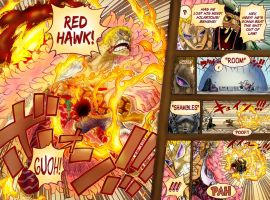Red Hawk - Luffy vs. Doflamingo by Charly-Z