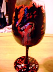 Hellsing Wine Glass hell hound by Hold-Your-Fire