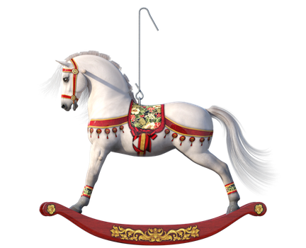 Xmas rocking horse by Loveit