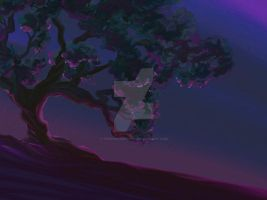 Tree at Dusk by TwoHorizonsArt