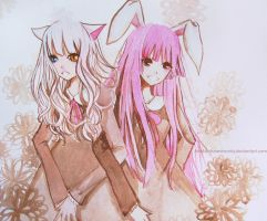 Cat And Rabbit by Amika-theonenonly