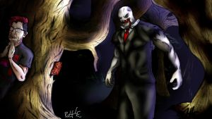 Markiplier vs. Slenderman by Ro4le