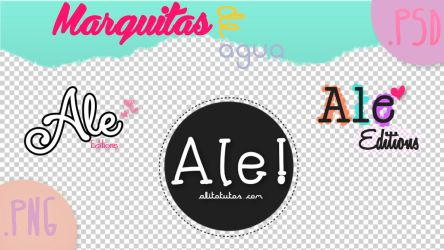 Marcas de Agua! .PSD .PNG | AleEditions! by AleColorfulEditions