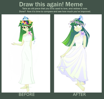 Draw this again! meme by DaW3IrD0