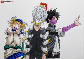 Shigaraki, Dabi and Toga || My Hero Academia by HideakiArtReal
