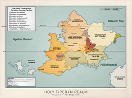 Tiperyn Political Map (Anterra) by graphicamechanica