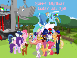 Happy Birthday, Lenny and Rini!! (Apr. 10, 2018) by Tonypilot