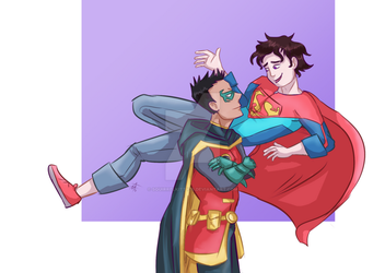 Super Sons Doodle by SquirrelKitty76