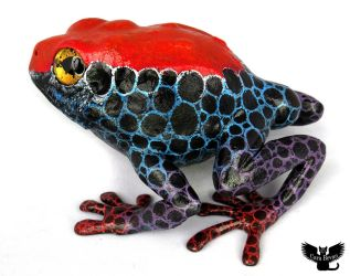 Gourd Frog #162 - Red-Headed Poison Dart Frog by ART-fromthe-HEART