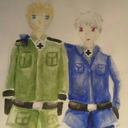 Germany and Prussia from Hetalia  by AwesomeWhiteDragon