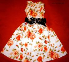 Red Roses Dress by kawaii-nia