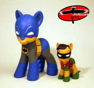 My little pony Batman and Robin by SixHawks