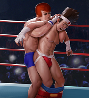 Gai Tendo vs Joe Higashi by Bageltron