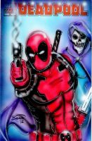 Deadpool Comic Cover Painting by BiancaThompson