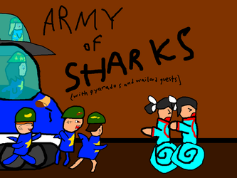 ARMY OF SHARKS by PichiPichu