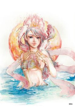 PISCES- Original Horoscope Watercolor Series by eizu