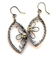 citrine silver earrings by annie-jewelry