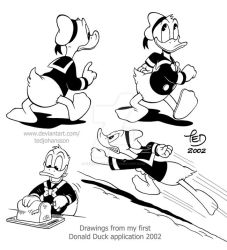 Ducks from my first Donald Duck application by TedJohansson