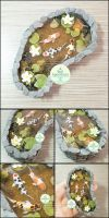Commission - Miniature Stone Koi Pond by PepperTreeArt