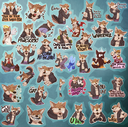 A Pile Of Troublemakers (Telegram Stickerpack) by Atimos