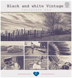 Black And white vintage - Photoshop Action by friabrisa