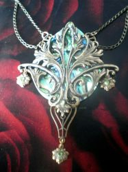 Acantha Art Nouveau necklace by Kiatali