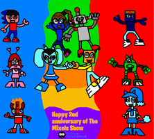 Happy 2nd anniversary of The Mixels Show by Luqmandeviantart2000