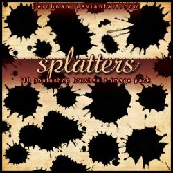 Splatters Brushes by Leichnam