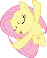 Fluttershy flying and singing by CloudyGlow