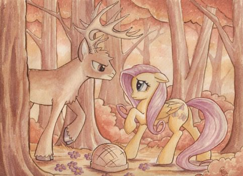 Whitetail Encounter by The-Wizard-of-Art