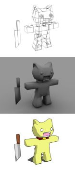 meow meow 3D by GuyFlash