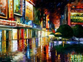 Movie theatre by Leonid Afremov by Leonidafremov