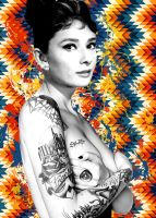 Audrey Hepburn Tatts for cash by Evlisking