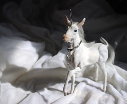 Silver Stallion Sculpture by SovaeArt