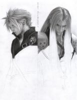 FF - Cloud and Sephiroth W5 by D17rulez