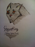 Stormfang Anthro+Sphinx Form by Cynthia-The-Fox