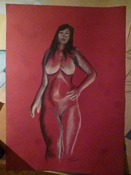 Akt, nude drawing, untitled by motoko777