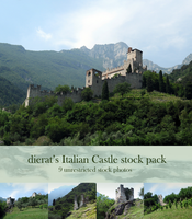 Italian Castle stock pack by dierat-stock