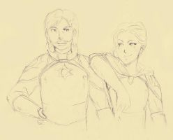 Alon and Serena by exucomic