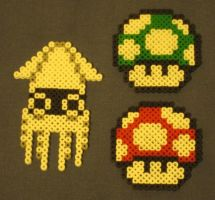 Super Mario Brothers fuse bead art by JasonYoungdale