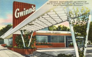 Vintage Advertising - Tasty Waffles on Rt. 66 by Yesterdays-Paper