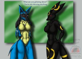 Commission darktype17's crystal and umbreon by Snowfyre