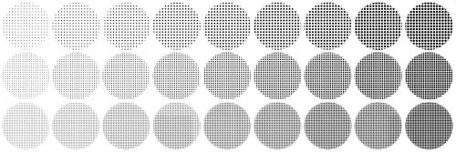 Halftone brush textures for SAI (Edit) by immuni