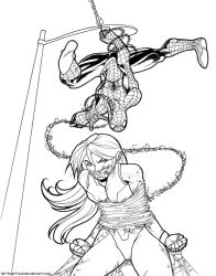 Spiderman vs She Hulk -Commission- by Oz-suka